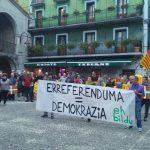 Kataluniako erreferendumari babesa adierazi diote zestoarrek