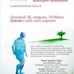 'Haztamuka  (Dol  i  sol)'  Luisa  Etxeberria  Azkuneren  poema  liburuaren  aurkezpen-errezitaldia