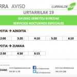 San Sebastian bezperan autobus zerbitzu berezia izango da Azpeititik itzultzeko