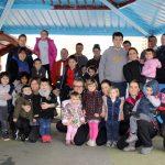 Eskola txikian auzolanean