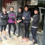 [BIDEOA] Herriko hainbat emakume Kobaz Koba Trail mendi lasterketarako entrenatzen