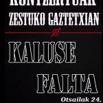 Kaluse eta Falta taldeen kontzertuak izango dira larunbatean Gaztetxean