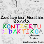 Kontzertu didaktikoa Zestoako Musika Banda eta Herri Eskolako haurren eskutik