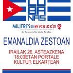 'Cubanas.  Mujeres  en  revolución'  dokumentalaren  emanaldia  asteazkenean  Portalen