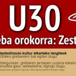 Danbolinzulo kultur elkarteko langileok U30eko grebarekin bat egiten dugu