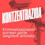 Gazte kriminalizazioa salatzeko kontzentrazioa deitu du Zestoako GKSk